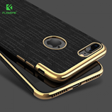 FLOVEME Black Luxury Plating Soft Cases For iPhone
